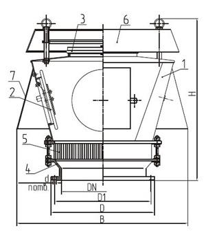 Общий вид клапана КДС-1500