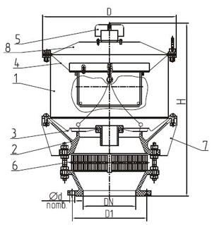 Общий вид клапана НДКМ